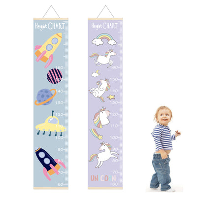 30x142cm Kids Growth Height Chart for Child Height Measurement Wall Hanging Rulers Girls Boys Room Decoration