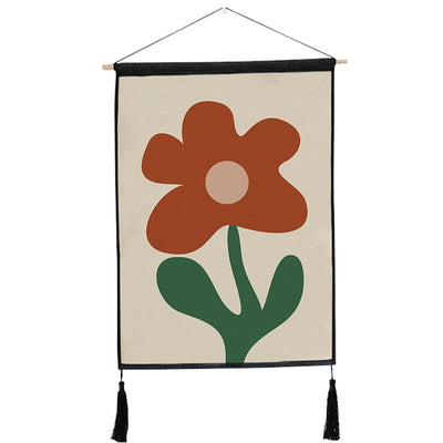 45X65cm Modern Flower and Plant Painting Wall Hanging Decorative Tapestry