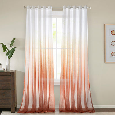 Red Sheer Curtains Modern Yarn Curtains for Living Room Bedroom Balcony 2 Panels