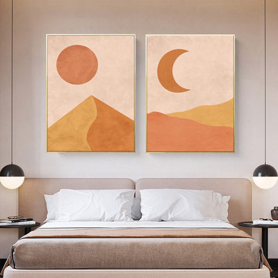 Long Years-Plain 30X40cm Framed Printings Nordic Ins Sun Moon Natural Abstract Style Bedroom Corridor Bedside Modern Hanging Wall Art