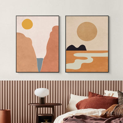 Long Years-Sunset 30X40cm Framed Printings Nordic Ins Sun Moon Natural Abstract Style Bedroom Corridor Bedside Modern Hanging Wall Art