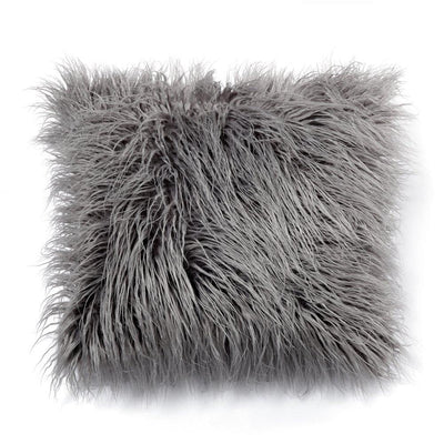 Multi-Size Fluffy Faux Fur Soft Cushion Covers Grey White Black Throw Pillow Case Plush Cushion Covers Decorative