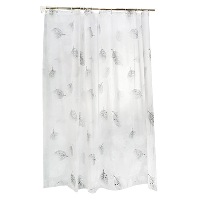 Leaves Print Shower Curtain Bathroom Thickened Plastic Waterproof and Mildew-proof Curtain