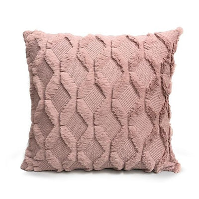 Pack of 2 Soft Plush Short Wool Velvet Decorative Cushion Covers Throw Pillow Cases 17x17 18x18inch Cream Grey Pink Brown