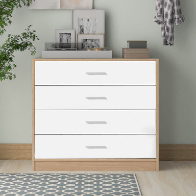 Simple Modern Style Oak Bedside Table Storage Cabinet Chest of Drawers Bedroom Livingroom