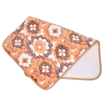 2pcs Coral Fleece Bathroom Memory Foam Rug Mats
