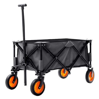 Foldable Garden Cart Pull Wagon Hand Cart Collapsible Portable Barrows