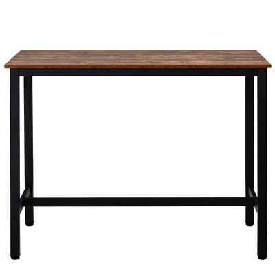 120x60x90 Bar Table Industrial Style Dining Table for Kitchen Cocktails Party