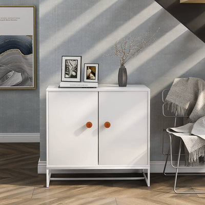 Nordic Style Utility Storage Cabinet with 2 Doors , Used in Living Room, Bedroom, Home or Office