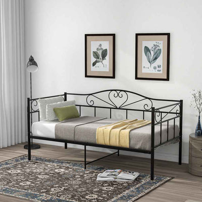 3FT Metal Sofa Bed Single Daybed 90 x 190 cm
