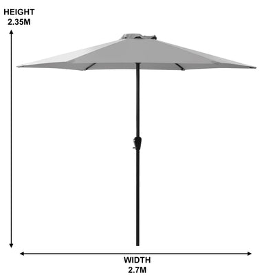 2.7M Outdoor Parasol with Base Sun Shade Umbrella