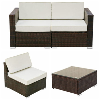 All-Weather 7pcs 4-6 Seater Rattan Furniture Sets with Table