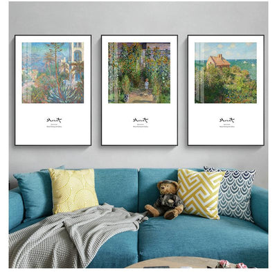 Monet Style-Tulip Fields 30*40cm Famous Painting Oil Painting Abstract Landscape Character Bedroom Wall Hanging Art Mural