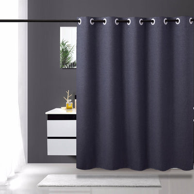 Shower Curtain Fabric Waterproof Anti-bacterial Linen Imitation Polyester Fabric for Bathroom Washable