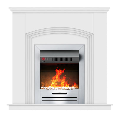 1800W Electric Fireplace Suite Freestanding Remoted Insert Fire With Timer