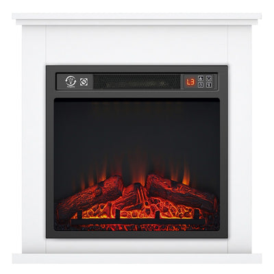 18 inch 1800W Electric Fireplace Suite Timer Log Flame with Surround