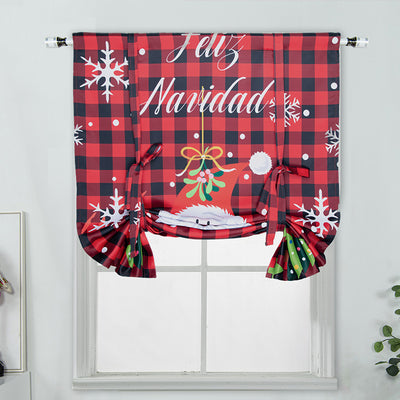 Christmas Blackout Curtains 117*160cm Roman Blinds Digital Printing Curtain 80% Blackout