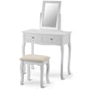 Dressing Table Set with Mirror Makeup Desk Elegant Dresser Bedroom