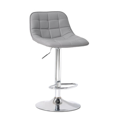 Bar Stools with Backrest with Chrome Frame Adjustable Height Swivel Chair