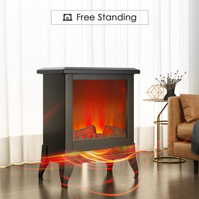 1800W Log Burning Flame Effect Stove Electric Fire Heater Fireplace Standing