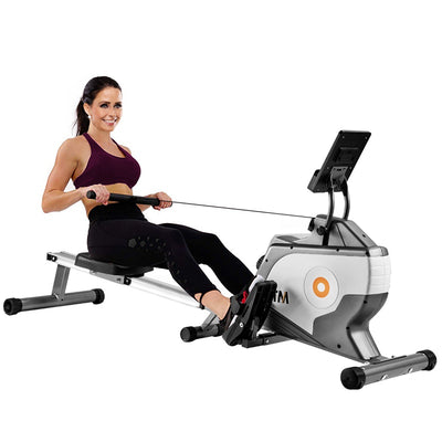 Home Rowing Machine Adjustable Resistance with Quiet Magnetic Braking System Fitness Cardio Workout