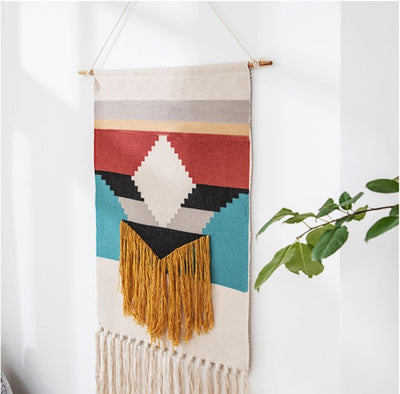 50x70cm 3D Pattern Wall Hanging Tapestry Decorative Tassels Hanging for Bedroom Living Room