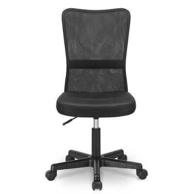 Mesh High Back Adjustable Office Chair Swivel Lumbar Support Computer Desk Chair -Black