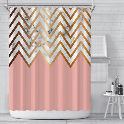 180x180cm Pink Printing Shower Curtain Waterproof Polyester Bathroom Curtain