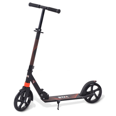 Adult Large Adjustable Kick Scooter Folding Aluminum Free Carry Strap 200mm Wheels Kickstand