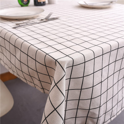 Modern Simple Black White Gray Checkered Tea Table Cloth Multifunctional Cover