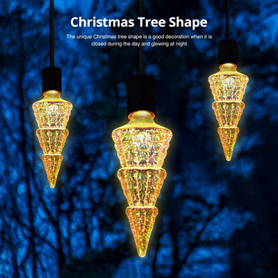 Christmas Tree 3D Firework LED Light Bulb - Holiday Home Decorate Restaurant Bar Decor