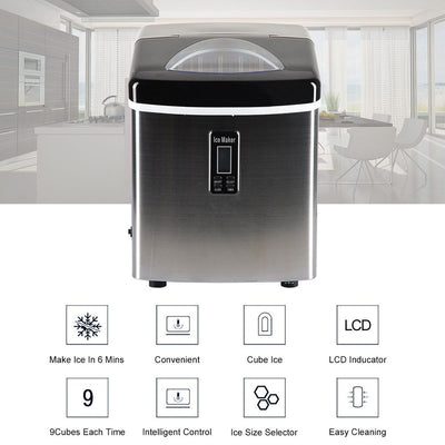 3.2L 33lb Small Digital Home Ice Cube Maker Large Capacity Machine
