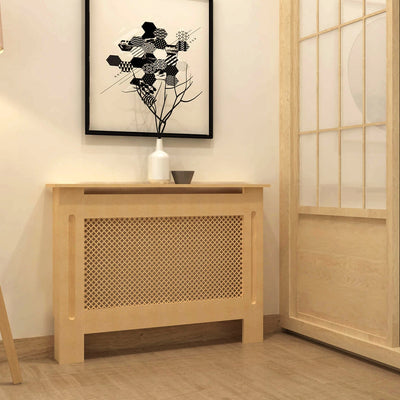 Oak White/ Unpainted Radiator Cover Wall Cabinet Medium