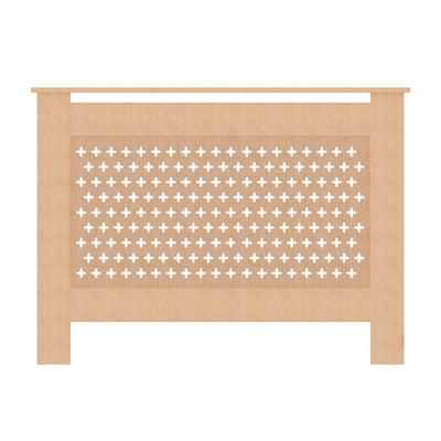 Unpainted Cross Grill Radiator Cover Wall Cabinet - 5 Size (Small/ Medium/ Large/ Extra Large/ Adjustable)