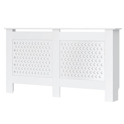 White Cross Grill Radiator Cover Wall Cabinet - 5 Size (Small/ Medium/ Large/ Extra Large/ Adjustable)