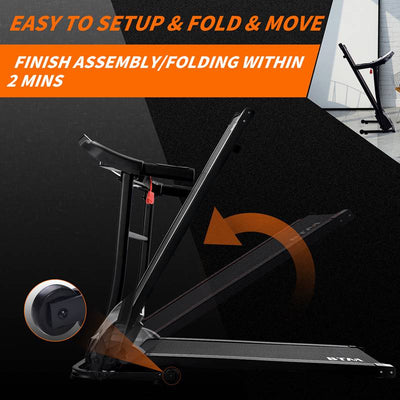 Home Electric Folding Treadmill With USB & Speakers 12 Pre-Programs