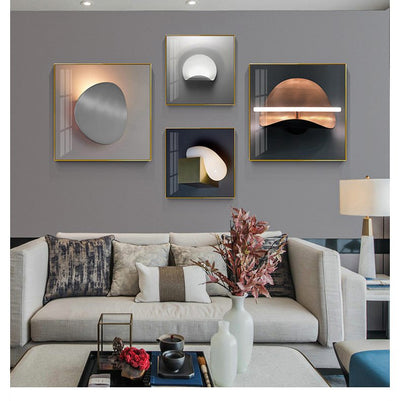 Lamp-shaped Modern Decorative Painting Nordic Luxury Living Room Background Wall Creative Simple