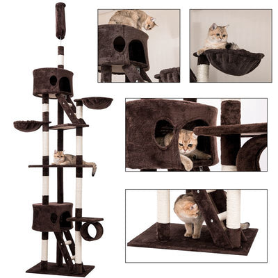 Cat Tree Scratching Post Activity Centre Climbing Tower Top Post Adjustable