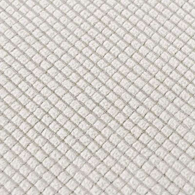 Silver Sofa Covers Stretch Fabric Furniture Protector with Elastic Bottom Checks Durable Spandex Fabric
