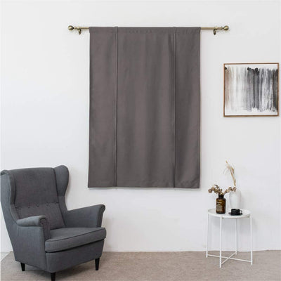 Tie-Up Blackout Curtain Rod Pocket Thermal Insulated Room Darkening Roman Shade for Bedroom Living Room Kitchen