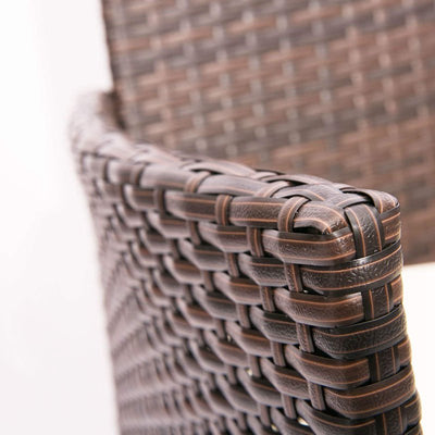 Rattan Cushion Double Chair Garden Outdoor Wicker Patio Furniture