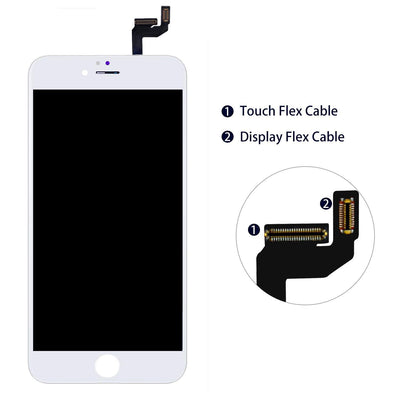 Replacement Compatible for iPhone 6s Screen Replacement White LCD Display Digitizer Frame Assembly