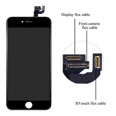 Compatible for 6S Screen Replacement 4.7'' Black LCD Display