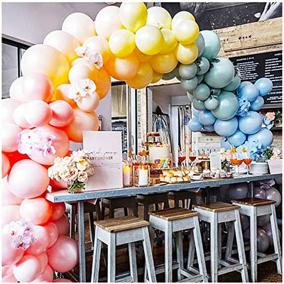 Party Pastel Balloons 10inch Macaron Candy Colored Latex Balloons for Birthday Wedding Engagement Anniversary Christmas Festival Picnic Party Decorations Multicolor
