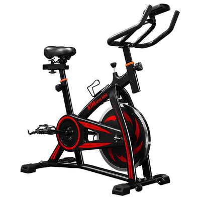 Adjustable Indoor Cycling Exercise Bike Spin Bike Studio On-Board Computer Calories Pulse