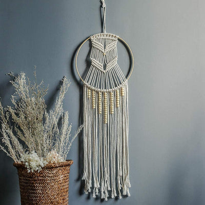 Moon Woven Macrame Wall Hanging Wedding Tapestry Decoration Backdrop Home Room Art Decor