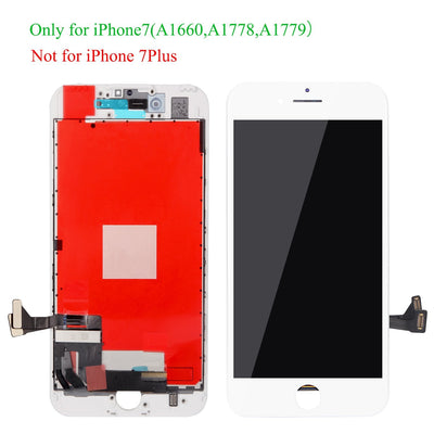 Replacement Compatible for iPhone 7 Screen Replacement White LCD Display Digitizer Frame Assembly