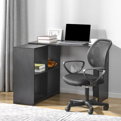 L-Shaped Computer Desk with 4 Storage Space