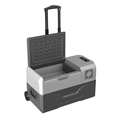 30L Wheel Mounted Portable Fridge for Home & Car Use