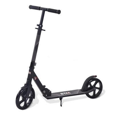 Large Folding Kick Scooter for Adult Teens with Big Wheels Adjustable Aluminum Kickstand